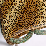 FAUX LEOPARD PAINTED TABLE image 2