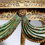 FAUX LEOPARD PAINTED TABLE image 3