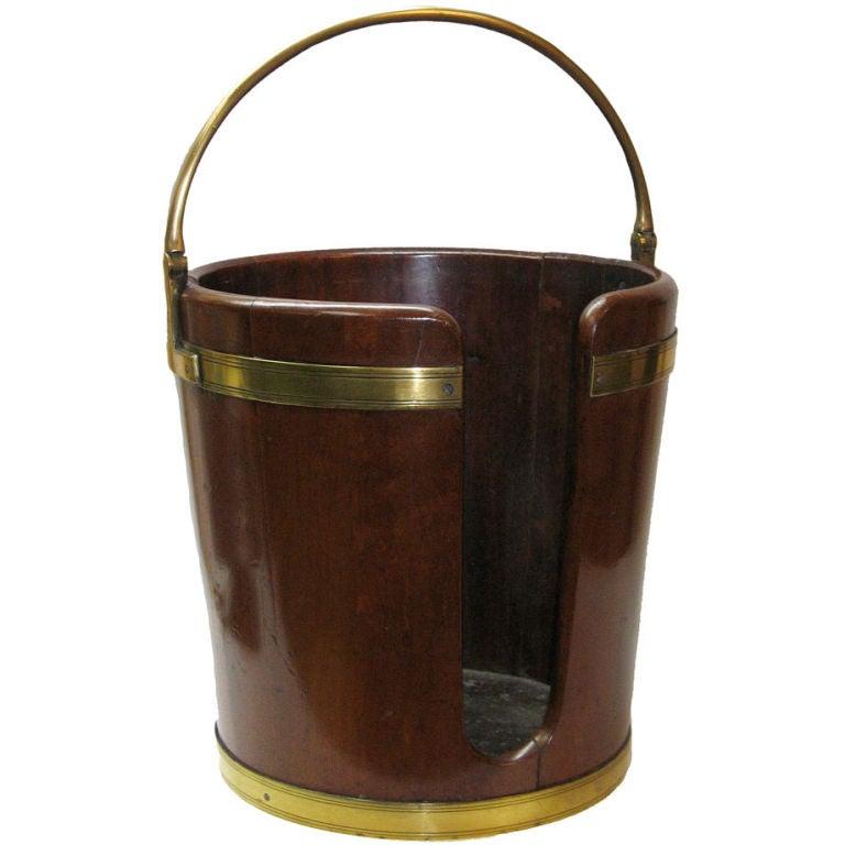 Large George III Plate Bucket, circa 1790