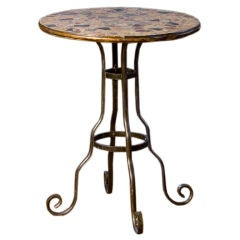 Terrazzo Mosaic Top with Iron Base Bistro Table