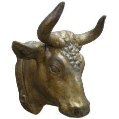 19th c. Zinc Bull's Head