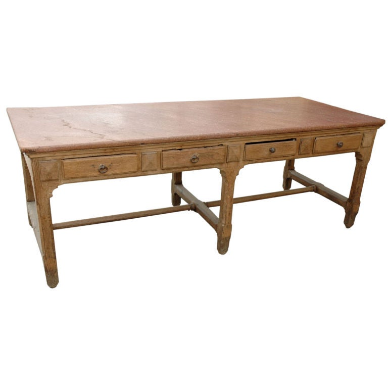 19th C Marble Top Work Table At 1stdibs