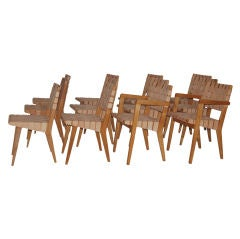 Set of 12 Dining Chairs by Jens Risom