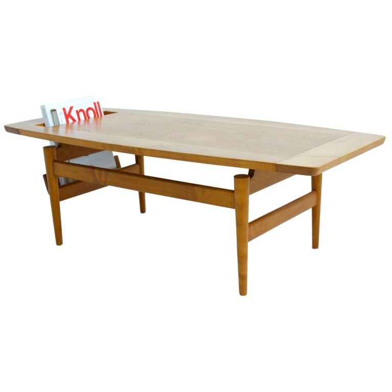 Jens Risom Coffee Table For Sale At 1stdibs