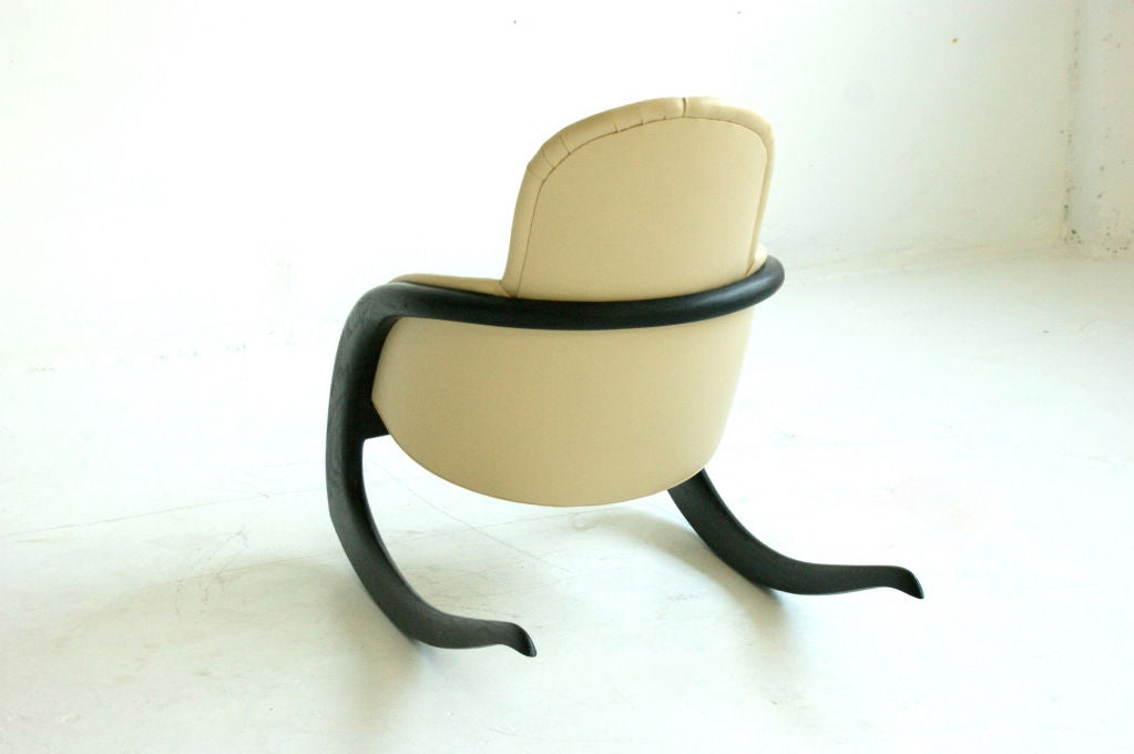 Late 20th Century Wendell Castle Crescent Rocker For Sale