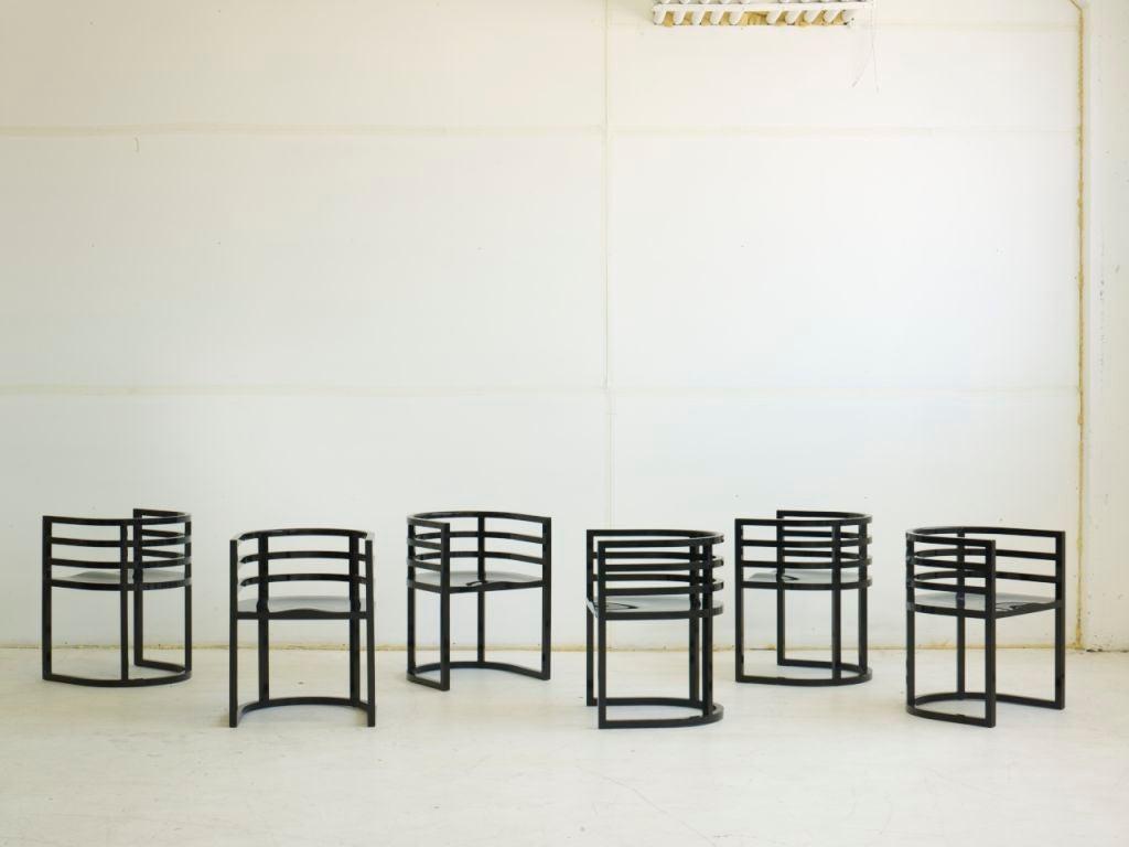 Lacquered Richard Meier Dining Set
