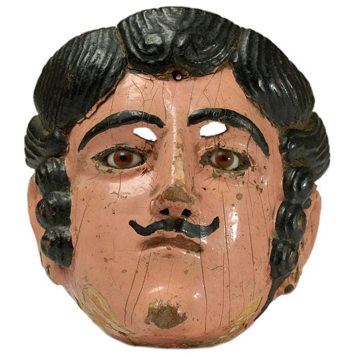 A Superb Antique Guatemalan Vaquero Cowboy Mask Circa 1930 At 1stdibs