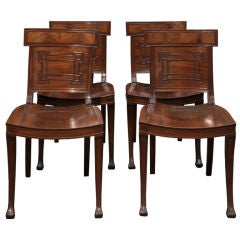 A rare set of four mahogany Hall Chairs