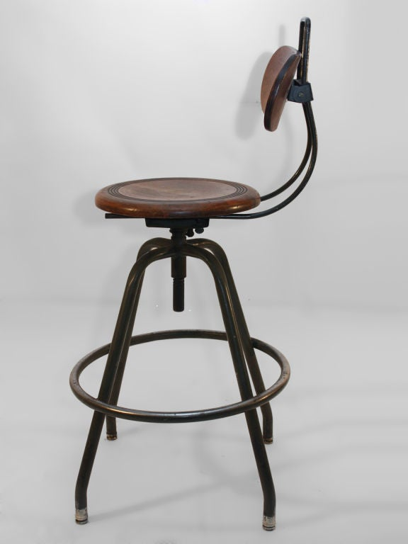 Swivel Industrial Stool At 1stdibs