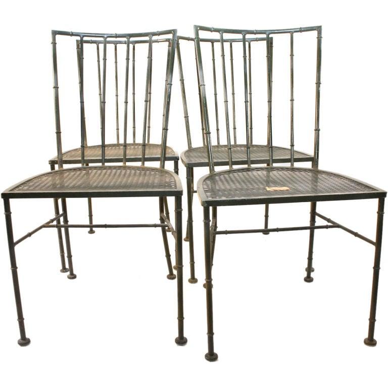 4 John Salterini outdoor side chairs at 1stdibs