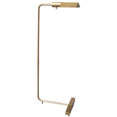 Brass Swivel Head and Shaft Floor Lamp by Cedric Hartman