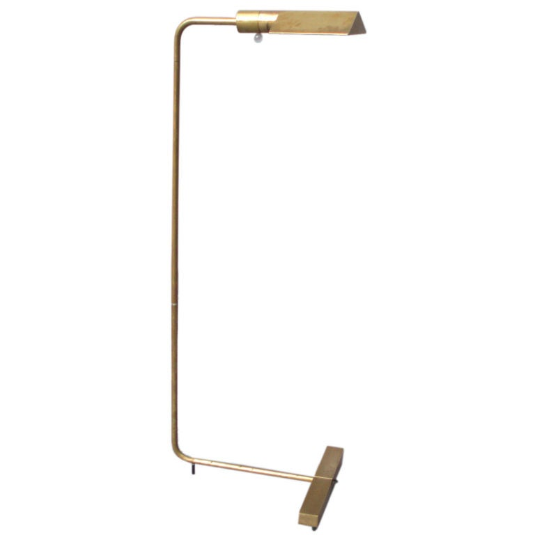 Brass Swivel Head and Shaft Floor Lamp by Cedric Hartman 1