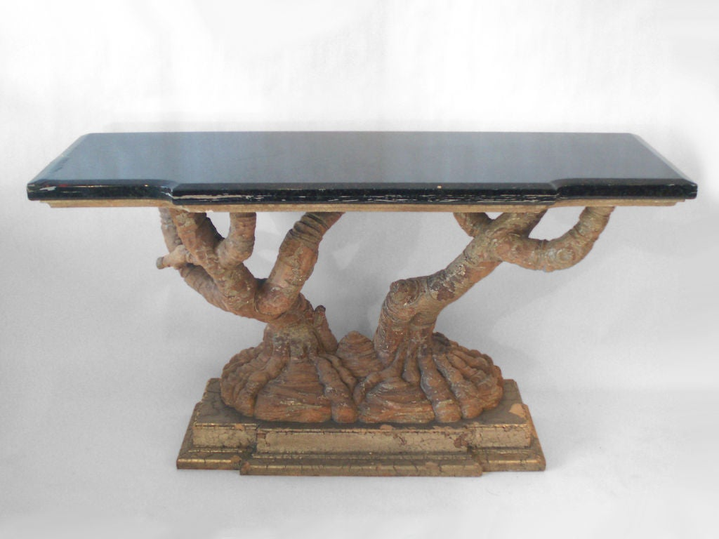 Tree Trunk Console Table Images Solid Tree Trunk Console By - Tree trunk console table