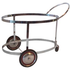 Moderne Chrome Drinks Cart in the Style of Gilbert Rohde for Troy Sunshade