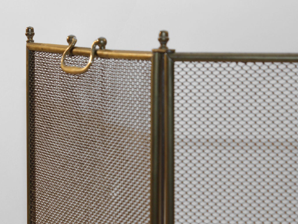4 fold vintage screen spark guard at 1stdibs