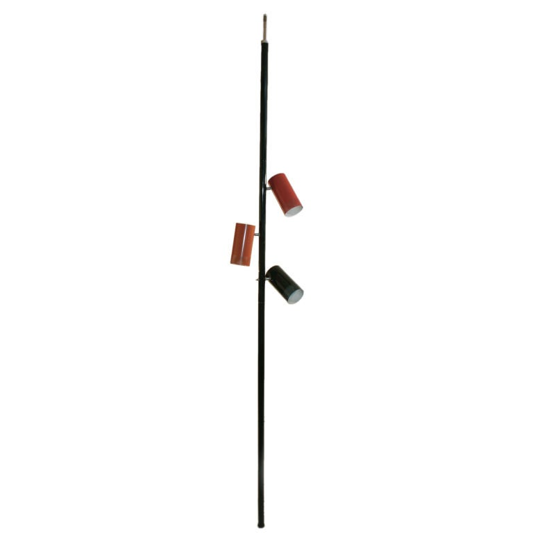 XXX Pole Lamp Can Shades Mid Century D1
