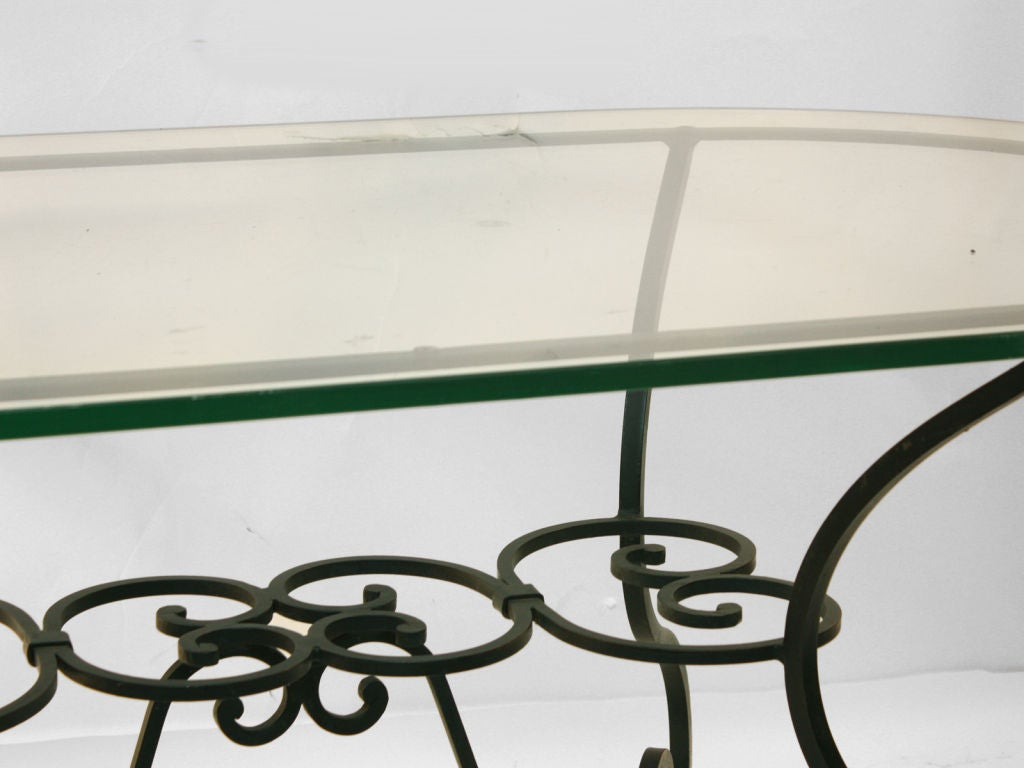 Large plate glass top oval indoor outdoor garden table at for Indoor gardening glasses