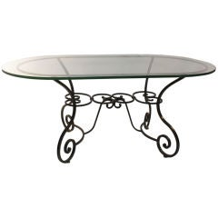 Large Plate Glass Top Oval Indoor/Outdoor Garden Table
