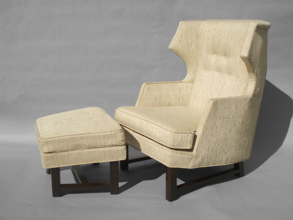 Reading chair and ottoman mid century modern reading chair and ottoman for sale at bentwood - Comfortable reading chair with ottoman ...