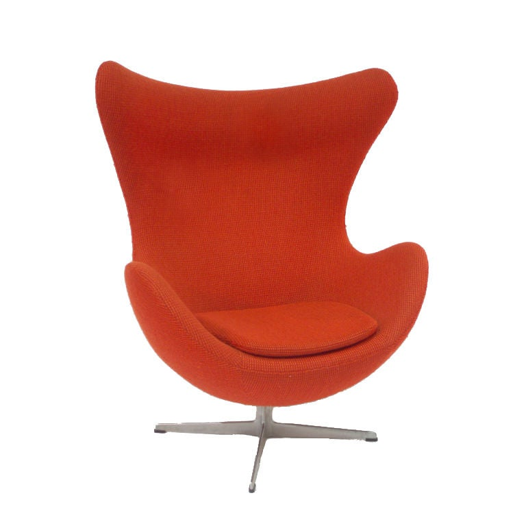 swivel egg chair by arne jacobsen at 1stdibs. Black Bedroom Furniture Sets. Home Design Ideas
