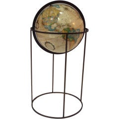 Globe in brass rod stand after Paul McCobb Repogle