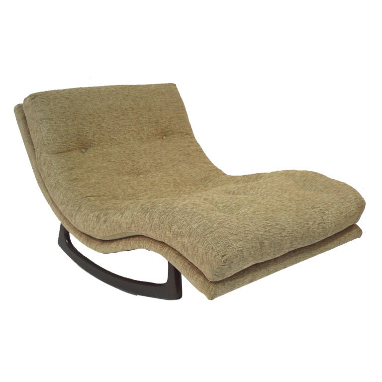Partners 39 rocking chaise lounge by adrian pearsall at 1stdibs for Adrian pearsall rocking chaise