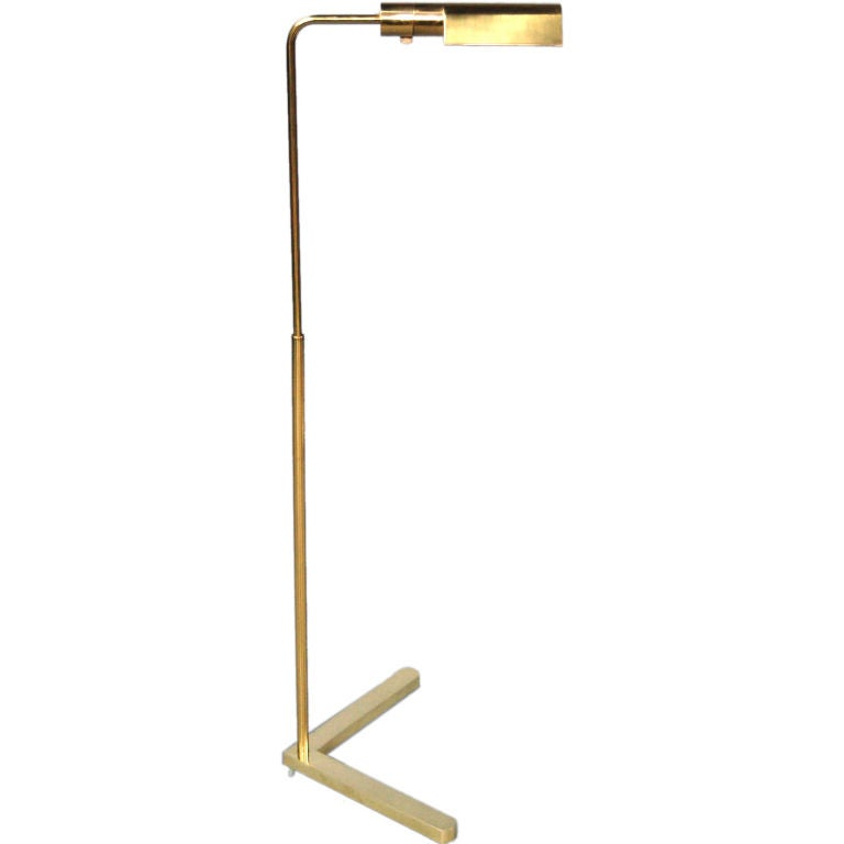 Adjustable reading floor lamp by casella at 1stdibs for Floor lamp with dual reading lights