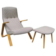 Grasshopper Chair with Ottoman by Eero Saarinen for Knoll