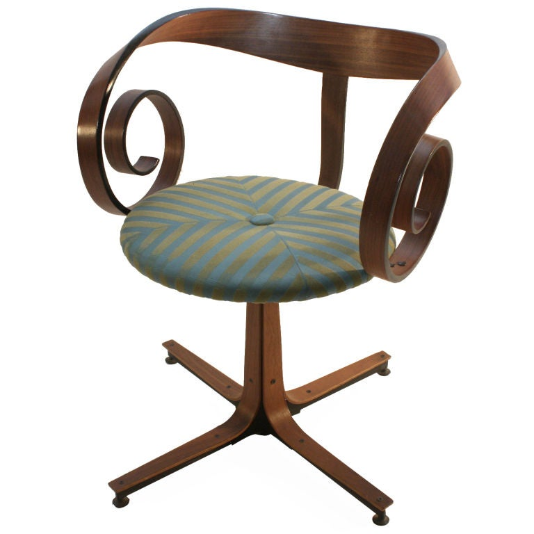 George Mulhauser Design For Plycraft Swivel Desk Chair At