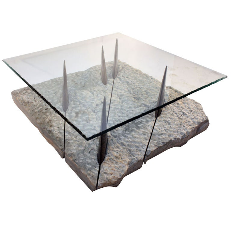 incredible marble and glass shark coffee table at 1stdibs