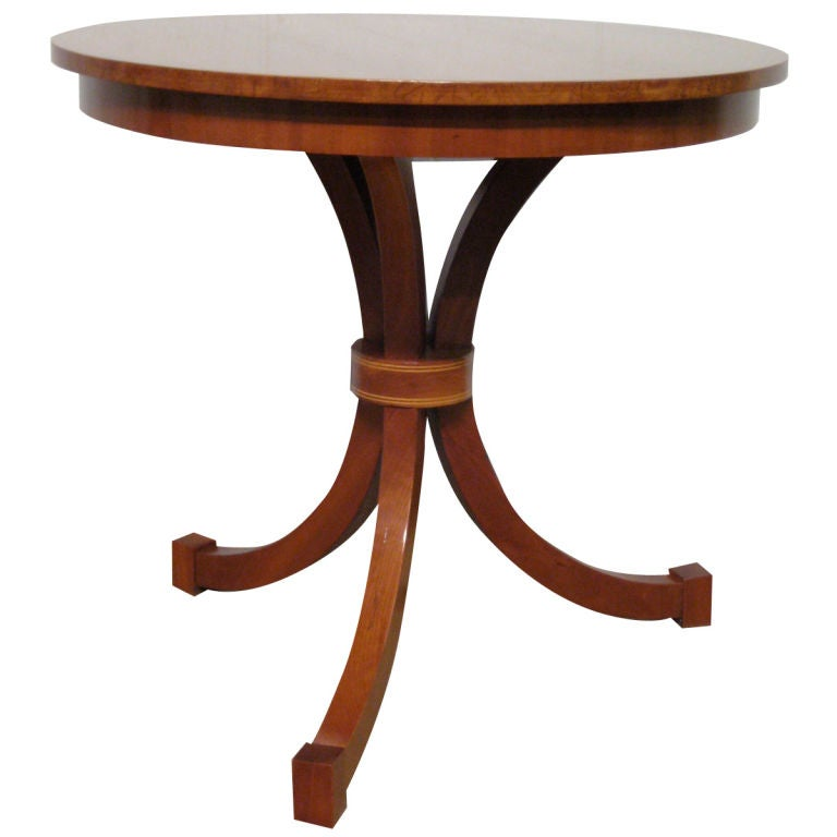 Biedermeier Style Circular Side Table At 1stdibs