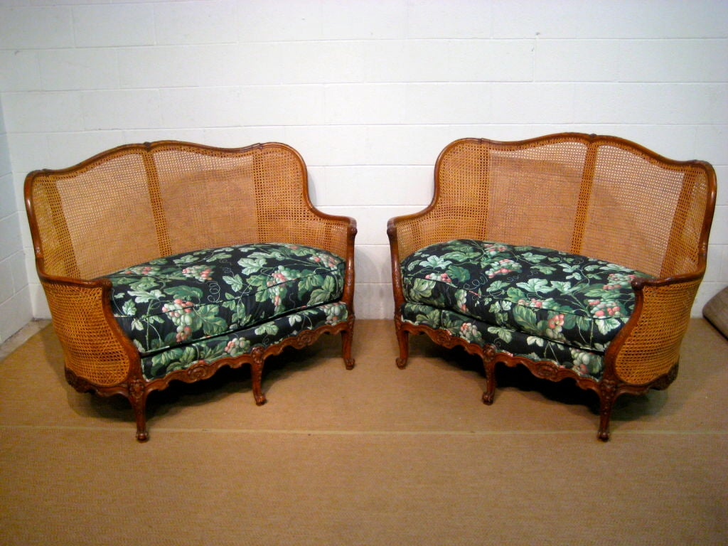 Pair of french louis xv style sofa or canape at 1stdibs for French canape sofa