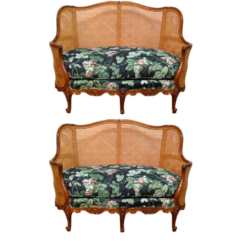 pair of french louis xv style sofa or canape at 1stdibs. Black Bedroom Furniture Sets. Home Design Ideas