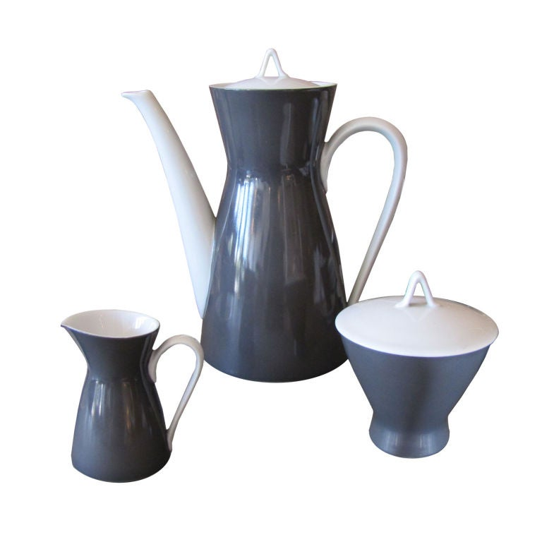 Raymond Loewy After Dinner Coffee Set For Rosenthal 2000