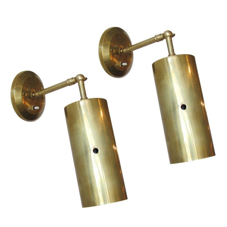 French Brass Wall Sconces : Pair of French Brass Sconces at 1stdibs