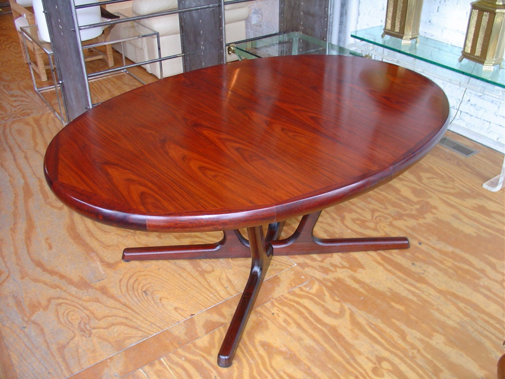 Danish rosewood dining table at 1stdibs for 108 inch dining table