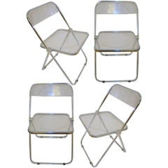 Giancarlo Piretti Plia Folding Chairs