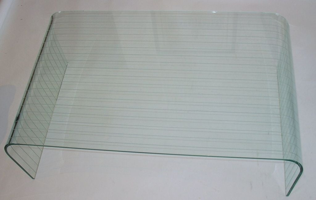 Pace Glass Waterfall Coffee Table Image 5