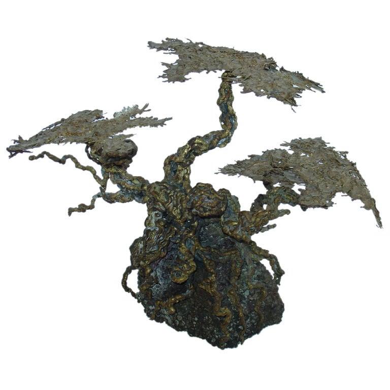 Brutalist Style Tree Sculpture