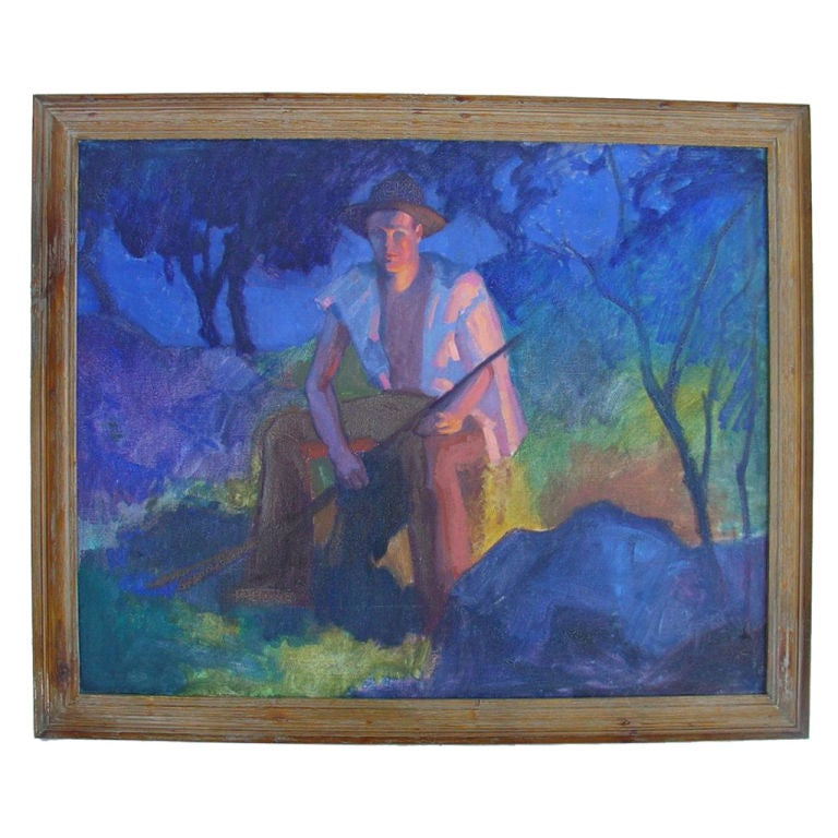 Painting by WPA  Artist Robert Allen Wilcox For Sale