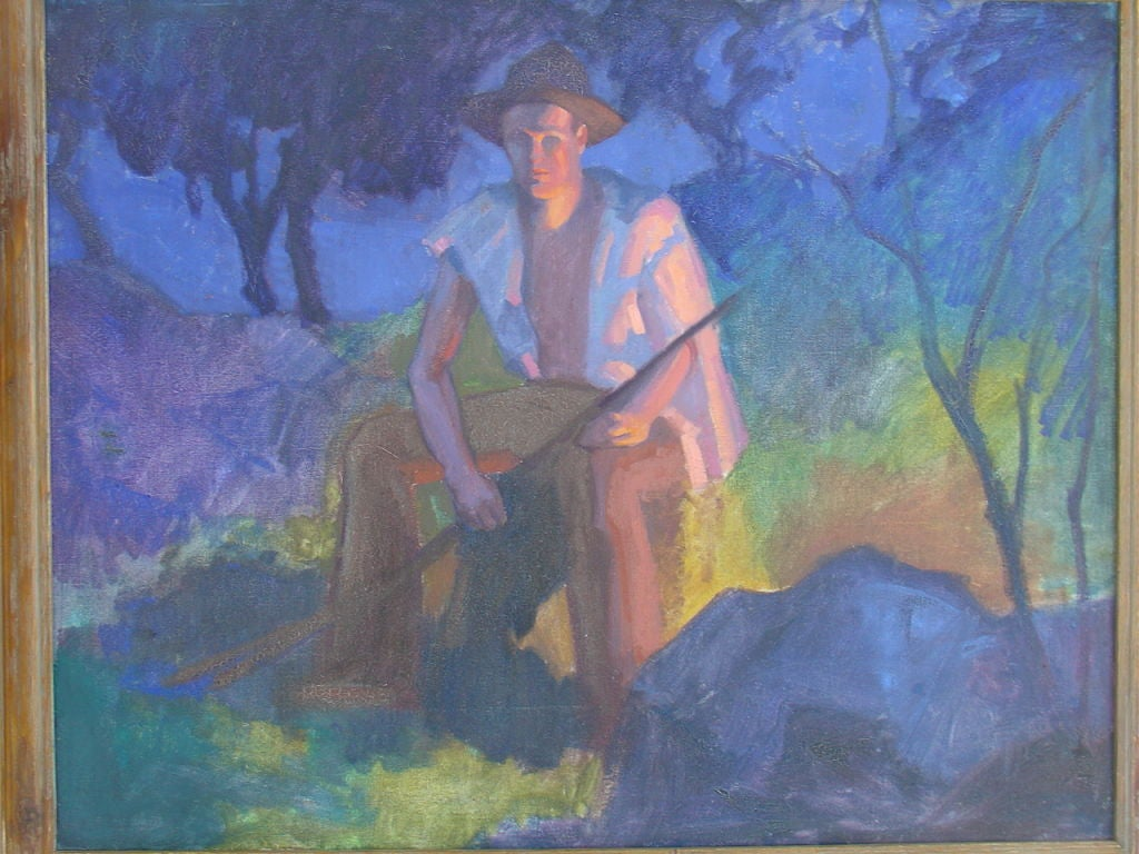 Mid-20th Century Painting by WPA  Artist Robert Allen Wilcox For Sale