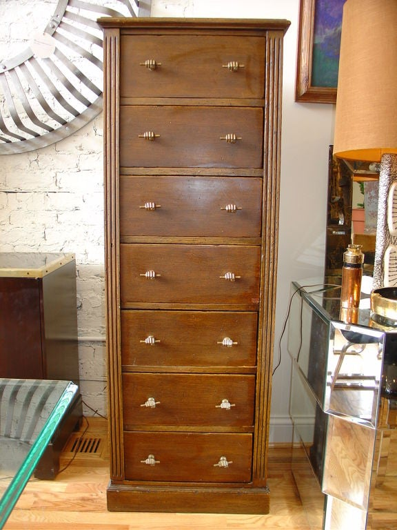 Spanish Tall Chest Of Drawers Or Semainier At 1stdibs