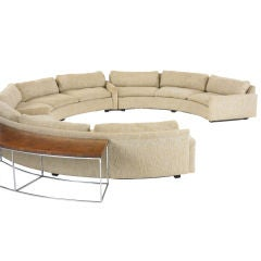 sectional sofa with table by Milo Baughman
