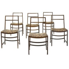 dining chairs, set of six by Renato Venturi