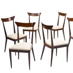 dining chairs, set of six by Ico and Luisa Parisi