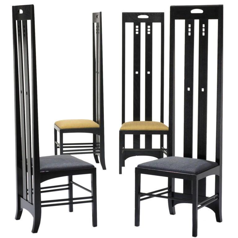 Ingram Street Tea Room Chairs Pair By Charles Rennie Mackintosh At 1stdibs