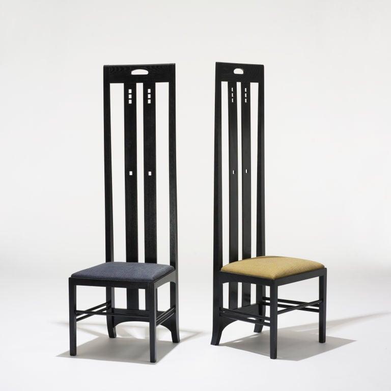 Ingram Street Tea Room Chairs Pair By Charles Rennie