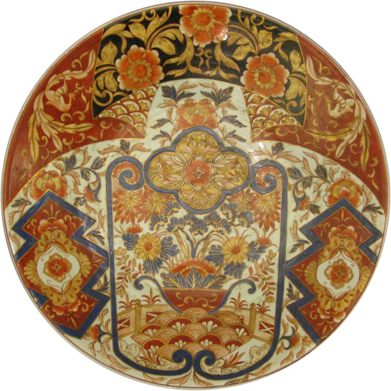 Massive Antique Japanese Imari Charger For Sale