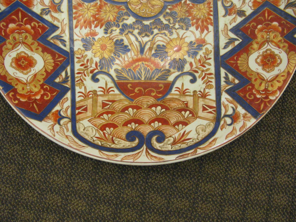 An unusually large antique Japanese imari charger.