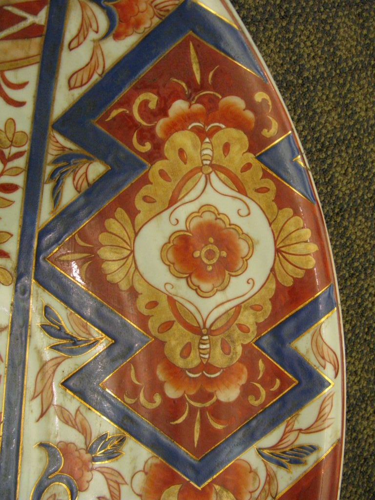 Massive Antique Japanese Imari Charger For Sale 2